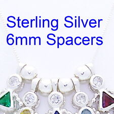 ONE .925 Sterling Silver Round Spacer Bead 6mm Use to Separate Charms NEW