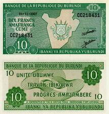 BURUNDI - 10 francs 2007 FDS - UNC