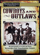 COWBOYS AND OUTLAWS - 4 DVD Box Set *** Brand New & Sealed ***