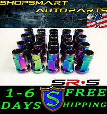 SRS SR*S 12X1.5 NEO CHROME TUNER LUG NUT SET OF 20 MITSUBISHI ECLIPSE LANCER EVO