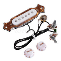 Electric Acoustic Guitar Prewired Cigar Box Single Coil Pickup Black Red Pearl
