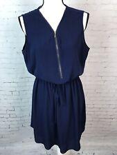d92aea8364f Mlle Gabrielle Dress Sz L Navy Blue Sleeveless Zipper