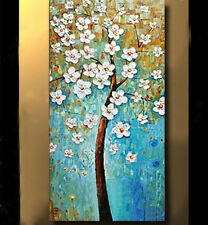 Pretty Modern hand-painted Art Oil Painting Wall Decor canvas,Tree(No Frame)
