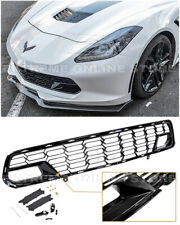 For 14-19 Corvette C7 With Camera Z06 Factory Carbon Flash Front Bumper Grille