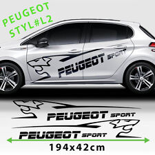 Peugeot 208 Side Racing Stripes Car Logo Stickers Decal  Size 194x42 Cm