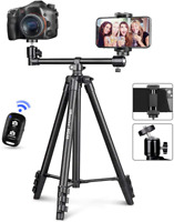 UBeesize 50-inch Phone Tripod Stand with Extended Arm, Portable