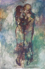 Philippe CARA COSTEA (1925-2006) HsP Le couple Jeune peinture Nl Ecole de Paris