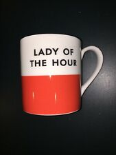 Kate Spade Lady Of The Hour Mug Red White Lenox Chic Speak Lenox Cup