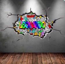 Décorations murales et stickers amovibles multicolores pour la chambre à coucher