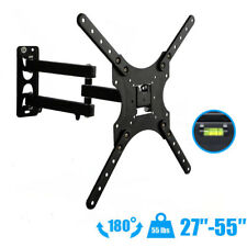 "Full Motion TV Wall Mount Tilt Swivel For 27""32""37""42""46""47""52""55"" inch LED LCD"