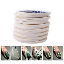 17m Beauty White Stripe Tape Roll Nail Art Edge Guide Tips DIY Sticker 0.5cm