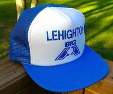Vtg Snapback Baseball Hat Cap Big A Lehighton PA Blue Hipster Trucker Painter