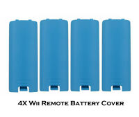 4X Blue BATTERY COVER LID Replacement Nintendo Wii Wii U wireless Controller