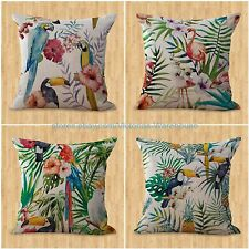 set of 4 cushion covers retro boho flower modern decorative pillows