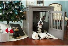 New Age Pet InnPlace Dog Crate / End Table - Large , Grey New