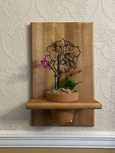 cedar plant wall plaque