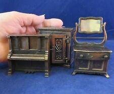 Durham Industries Miniature's a Piano, Dresser & Cabinet (1065)