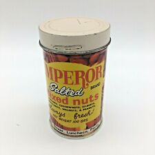 Emperor Mixed Nuts Vintage Prank Gag Gift Tin Container with Spring Snake Japan