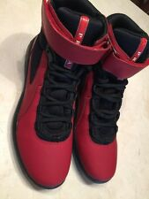 NEW!! PRADA 'PUNTA ALA' MENS RED HIGH TOP SNEAKER WITH VELCRO CLOSURE US SIZE 8M