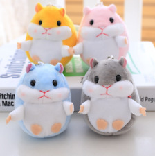 Cute Hamster Stuffed Toys Pendant Doll Keychain Trumpet Mini Doll New Plush Gift