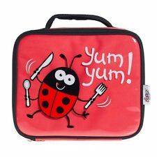 Girls Bugzz Red Ladybird Kids School Lunch Box Bag Insulated Lunch Childs