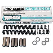 Works Performance Shocks Fork Tuning Kit 49mm For Harley Davidson 06-14 FK4425