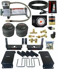 Air Helper Spring Kit w/ White Gauge In Cab Control 1994 - 02 Dodge Ram 3500