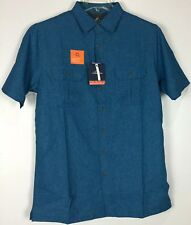 Mens Croft & Barrow Quick Dry Vented Shirt MT Tall Button Front Short Sleeve