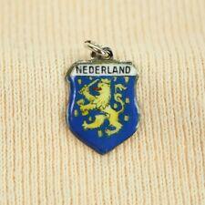 ANTIKO Bettel Armband Wappen Anhänger Emaille Silber 800 Nederland Niederlande 2