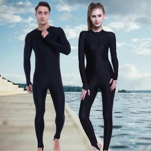Men Women Full Body Sharkskin Swimwear One Piece Swimsuit Jumpsuit Dive Skin
