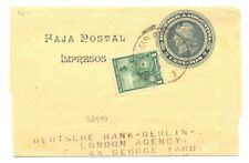 ARGENTINA 1910 UPRATED PS WRAPPER TO LONDON -F/ VF