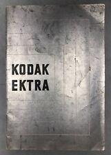 Original Kodak EKTRA booklet
