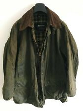 Mens Barbour Border wax jacket Dark Green coat 44 in size Extra Large / 2XL #6