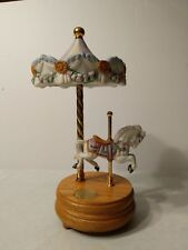 "Willitts Musical Carousel With Moving Too And Horse ""Merry Widow's Waltz"" 10"""