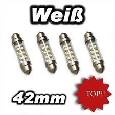 4 x 6 SMD LED Sofitte 42 mm Xenon Weiß Soffitte C5W C10W 12v