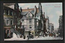 John Knox's House Nether Bow Edinburgh 1900's? Postcard ~ FAIR CONDITION