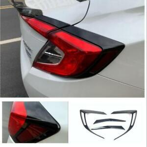 For Honda Civic Sedan 2016-2021 Glossy black Tail Rear Light Lamp Cover trim
