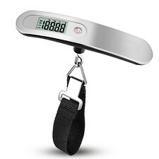 Compact Portable Travel Tare 110lb 50kg Mini Hanging Digital Luggage Scale