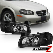 For 00-01 Nissan Maxima [Factory Style] Black Headlight Lamp Direct Replacement