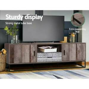 Artiss TV Cabinet Entertainment Unit Stand Storage Wooden Industrial Rustic 180c