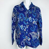 Kim Rogers Easy Care Royal Blue Women Shirt . Size XLP. New With Tags.