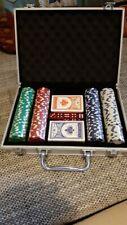 Mallette-Poker-laser-jetons-de-poker-set-de-poker-cards-alu-valise-argent