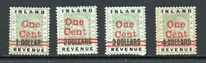 British Guiana, 4 surcharged stamps, SG 207 - 210, MH, 1890