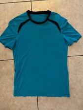 Lululemon Aqua Blue Men's T-Shirt Size Small Short sleeve Workout Gym Yoga Basic