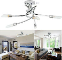 Ceiling Light 5 Arm Way Bulb Living Room Lounge Chrome Fitting Modern Chandelier