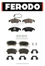For Audi S4 S5 2010-2016 Front & Rear Disc Brake Pad Set w/ Sensor Ferodo