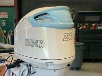 Yamaha 225 OX66 Saltwater Series II decal kit  white and red set  free ship