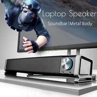 3.5mm TV Cine en Casa Barra de Sonido USB Portátil Mini Altavoz HIFI Super Bass