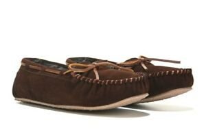 Minnetonka Britta Trapper Dark Brown Moccasin Women's Slipper Flat Shoes Size 7M