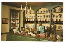 INSIDE  The APOTHECARY SHOP Doctor Pharm Williamsburg Virginia Postcard VA 1966